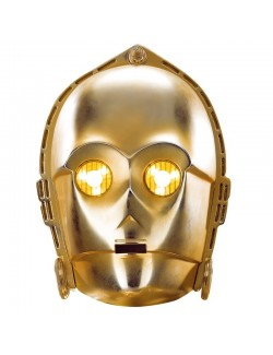 Masca robot stelar C-3PO Star wars, Rubies