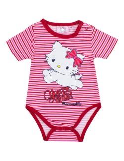 Body bebelusi Hello Kitty, rosu/ alb, 3-23 luni