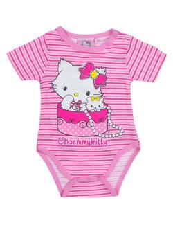 Body bebelusi 3-23 luni Hello Kitty - Charmmy Kitty, roz