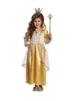"Costum carnaval: Rochie Printesa ""Golden Princess"""