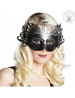 Masca Domino stil venetian, argintie