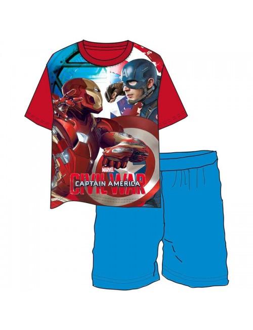 Pijama Captain America - Iron Man: Civil War, copii 4 - 10 ani