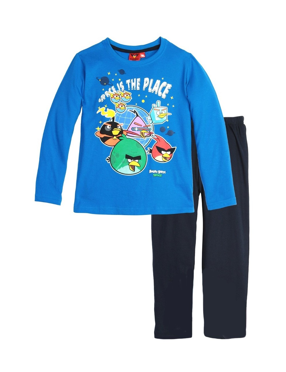 Pijama copi, Angry Birds Space, 4-10 ani