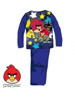 Pijama copii, Angry Birds, albastra, 4 - 8 ani