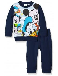 Pijama copii, bleumarin, Mickey si Donald, 12-30 luni