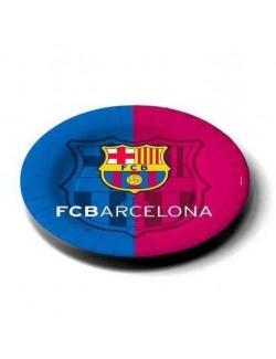 Set 8 farfurii carton FC Barcelona 23 cm
