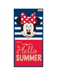 Prosop plaja Minnie Mouse Hello Summer, 70x140 cm