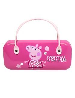 Suport ochelari Peppa Pig, culoare roz, pentru copii