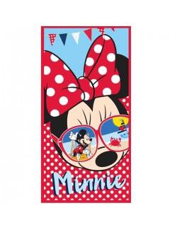 Prosop plaja Minnie Mouse cu ochelari, 70x140 cm