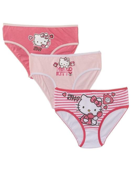 Set 3 chiloti fete Hello Kitty  2-8 ani