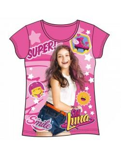Tricou Soy Luna fucsia fete 6 - 10 ani