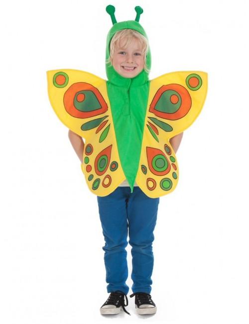 Costum Fluture galben, copii 3/7 ani
