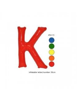 K - Litera gonflabila - culori diverse- 35 cm