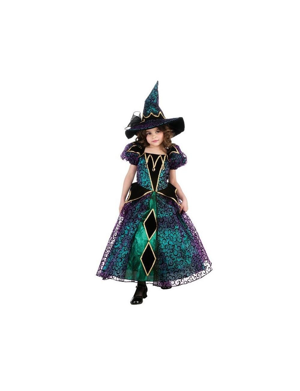 Costum Halloween Copii Vrajitoare Stralucitoare 3 10 Ani