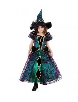 Costum Halloween copii, Vrajitoare stralucitoare, 3-10 ani