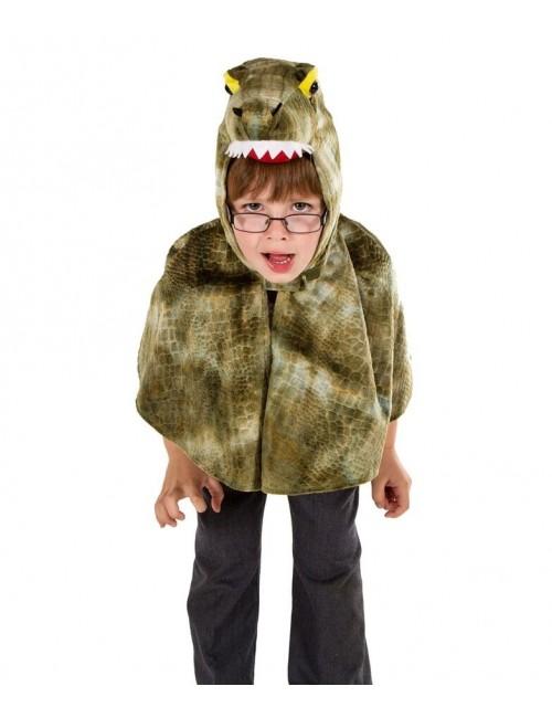 Costum Crocodil tip poncho copii 3 - 6 ani