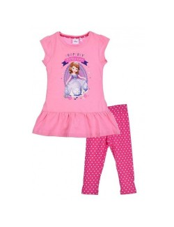 Set Tricou si colanti roz, Sofia Intai, pentru copii 3-6 ani