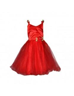 Rochie rosie, eleganta, pentru copii 4 - 12 ani