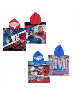 Prosop poncho Captain America & Iron Man 50 x 100