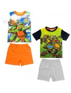 Pijama vara Testoasele Ninja baieti 3-8 ani