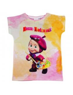Tricou fete Masha pictorita 3 - 8 ani, roz