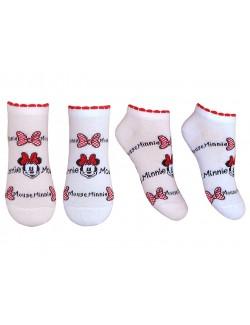 Sosete copii, Minnie Mouse, alb sau roz, 23 - 34