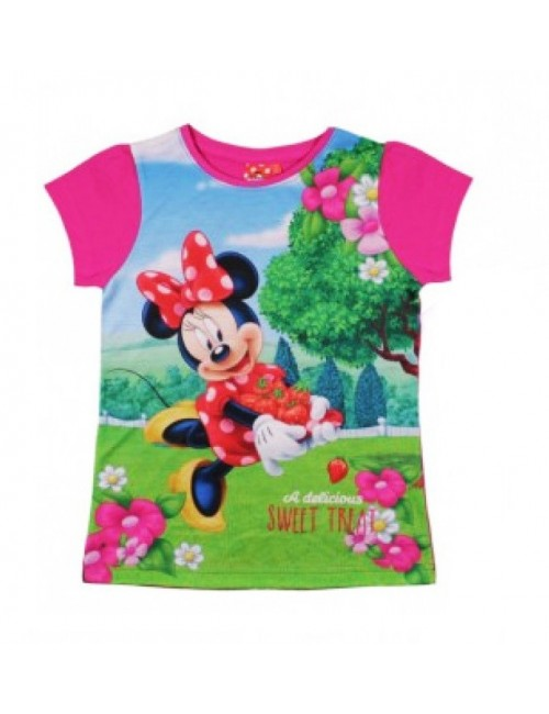 Tricou Minnie Mouse Delicious 4-9 ani, fucsia