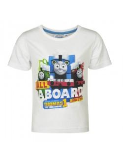 Tricou Locomotiva Thomas 2-5 ani, alb